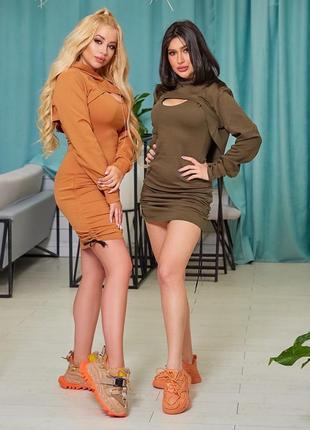 Женский комплект платье и болеро6 фото