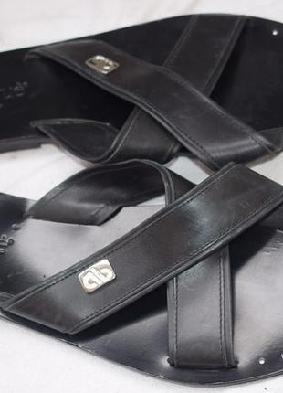 Кожаные шлепанцы шлепки сланцы aldo brue italy р.44 30,5 см