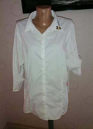 Белая рубашечка. большой размер.