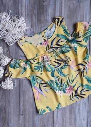 Блуза с воланом h&m 9-10л