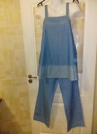 Костюм для беременных лёгкий джинс