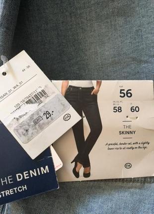 Новые (с этикеткой) голубые джинсы скинни от c&a, размер 56, укр 62-64-666 фото