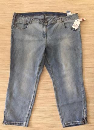 Новые (с этикеткой) голубые джинсы скинни от c&a, размер 56, укр 62-64-66