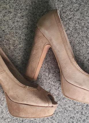 Стильные туфли, натуральный замш