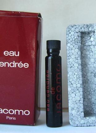 Jacomo eau cendree - edt - 2 мл.оригинал. винтаж.