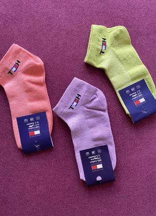 Носки цветные tommy hilfiger р.36-40