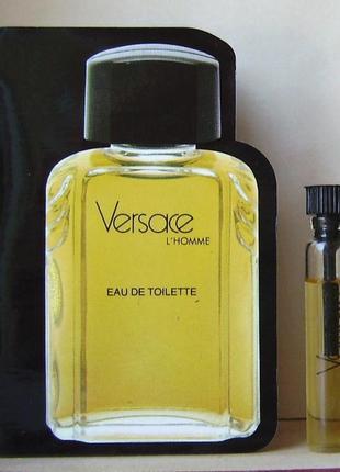 Versace l'homme - edt - 1.5 мл. оригінал. вінтаж