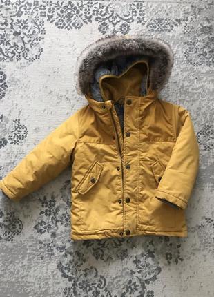 Весенняя осенняя зимняя куртка парка ветровка george 3 в 1