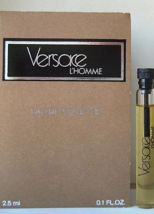 Versace l'homme - edt - 2.5 мл. оригінал. вінтаж