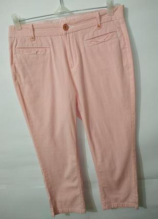 Стильные брюки капри бриджи в мелкую полосочку marks&spencer uk 12/40/m