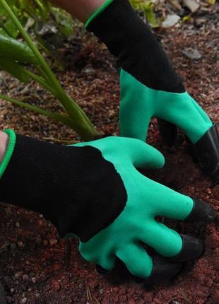 Садові рукавиці з кігтями garden glove садовые перчатки с когтями
