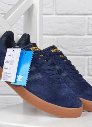 Кроссовки мужские замшевые adidas spezial адидас темно синие вьетнам