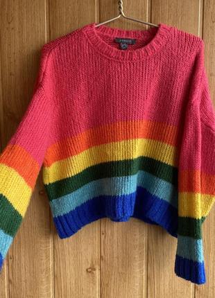 Радужный оверсайз свитер