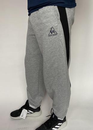 Штаны le coq sportif размер s серые с на манжете серые