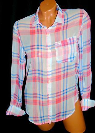 Abercrombie & fitch шикарная брендовая блуза с удлинённой спинкой-xs - m
