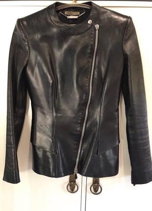 Кожанная куртка  alexander mcqueen