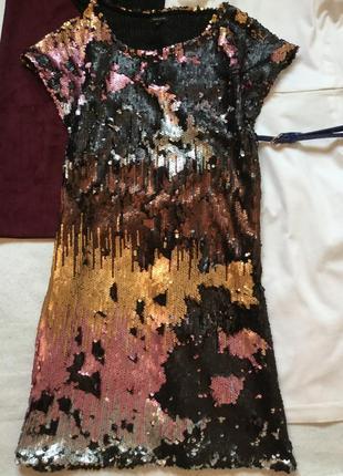 Платье в пайетки river island размер 10