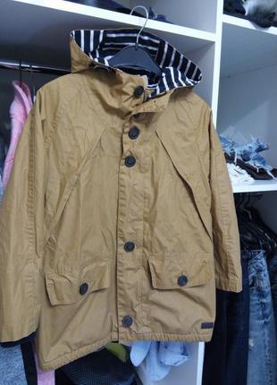 Демисезонная куртка ветровка парка на флисе