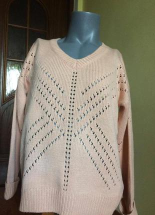 Большой размер, нежный свитерок h&m!