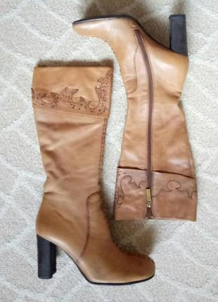 Демисезонные кожаные сапоги.2