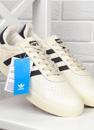 Кроссовки мужские кожаные adidas spezial белые вьетнам