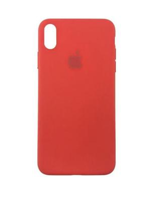 Чехол silicone case для iphone xs/x product{red}
