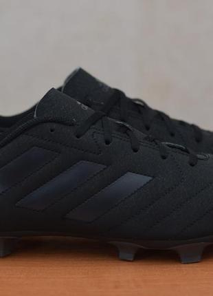 Черные бутсы с пластиковыми шипами adidas goletto vii, 42-43 размер. оригинал