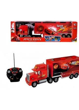Уникальная большая красная машина на радиоуправлении  ❗трейлер тачки❗для мальчиков
