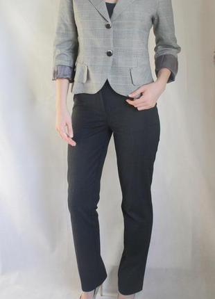 Модный пиджак в клетку denny rose. италия. размер м