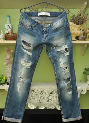 Женские рваные джинсы a.m.n