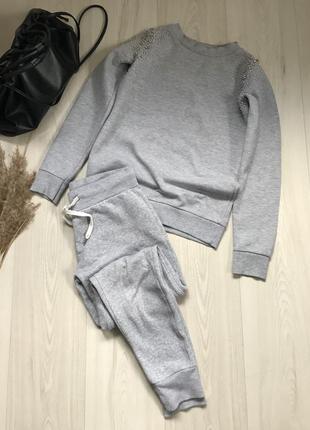 Серый спортивный костюм primark размер xs
