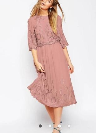 Шикарное натуральное миди платье от asos