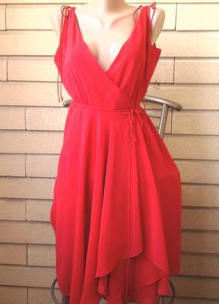 Сексуальное платье zara шифоновое с запахом сукня вечернее нарядное