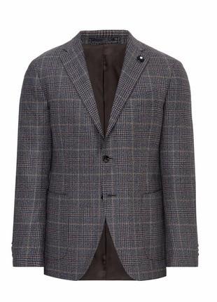 Мужской пиджак тонкая шерсть donna karan  l xl