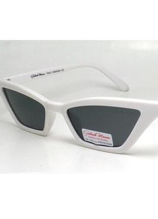 Солнцезащитные очки gabriela marioni ретро в оригинальной белой оправе