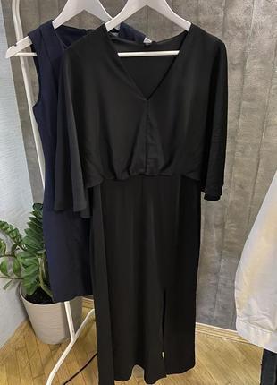 Красивое чёрное платье в пол vero moda