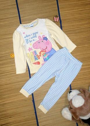 Пижама хлопковая для девочки 2-3года