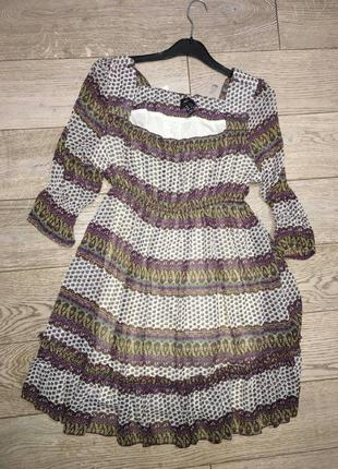 Шифоновое платье в этно стиле
