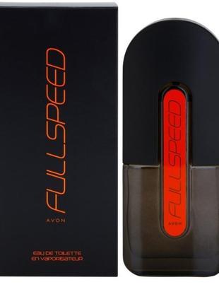 Avon full speed оранжевый мужская туалетная вода 75мл цитрусовый аромат с древесной ноткой