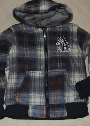 Теплая кофта куртка бомбер мальчику 6 лет на меху