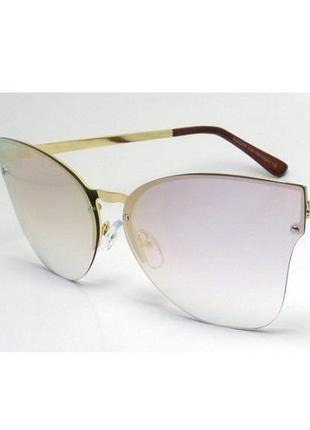Женские солнцезащитные очки kaidi с градиентом в оригинальной золотой оправе металл
