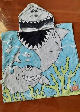 Распродажа! пляжное детское полотенце с капюшоном