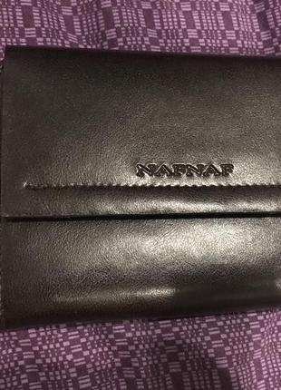 Новый naf -naf кошелёк темно коричневый портмоне визитница