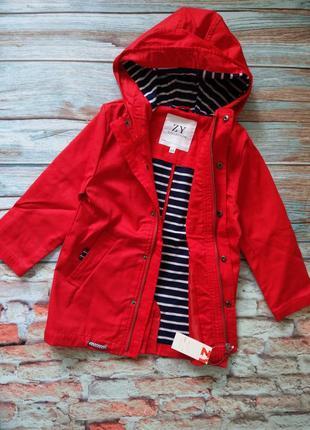 Ветровка zippy куртка удлиненная на трикотажном подкладе португалия 4-5, 6-7 лет