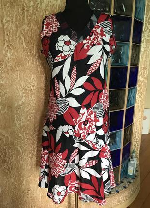 Льняное платье george , размер 44 европейский.