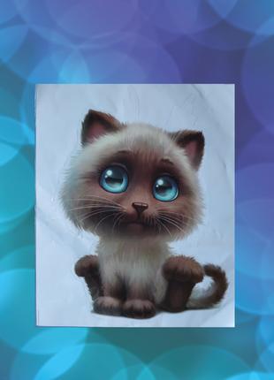 Наклейка 3d кот котик наклейка киця кіт милашка кот наклейка