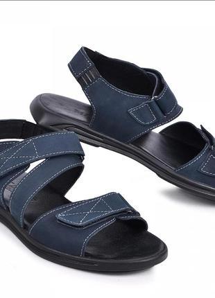 Кожаные мужские сандали синие от 40 по 45 размер