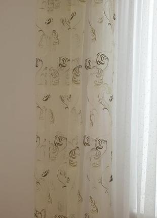 Комплект шторы декоративные органза