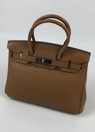 Оригинальная кожаная сумка hermès paris togo birkin клатч портфель ранец6 фото