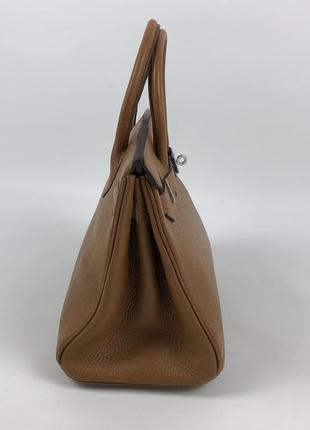 Оригинальная кожаная сумка hermès paris togo birkin клатч портфель ранец5 фото